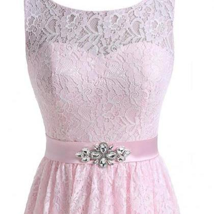 Lace Homecoming Dress,Appliques Co..