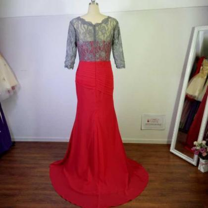 Real Picture Long Prom dresses,Red..