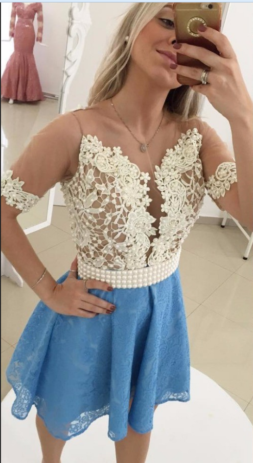 Blue Homecoming Dress,Straps Homecoming Dresses,Homecoming Gowns,Backless Party Dress,Short Prom Gown,Sweet 16 Dress,Homecoming Gowns,Homecoming Dresses