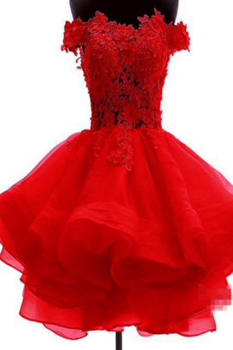 Short Homecoming Dress,Custom Homecoming Dresses,Red Homecoming Dress,lace Homecoming Dress,pretty Homecoming Dress
