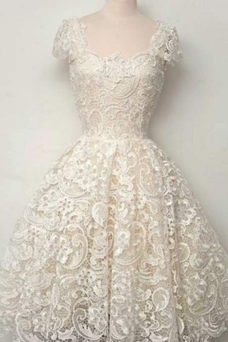 Lace Homecoming Dresses,white Homecoming Dresses,Cap Sleeve Homecoming Dresses, Homecoming Dresses,Cheap Homecoming Dresses