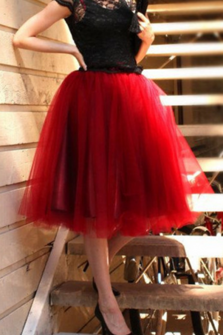 spring Autumn Skirt ,A-Line High Quality Skirt,Homecoming Dress