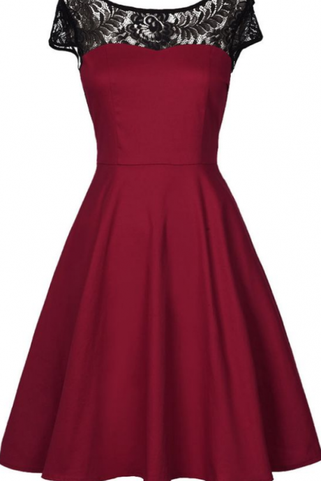 Stunning New Homecoming Dresses,Dark Red Satin Short Party Gowns, Short Homecoming Dress, Amazing Homecoming Dresses