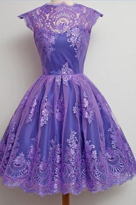 Charming Prom Dress,Appliques Lace Prom Dresses,Elegant Homecoming Dress,Short Homecoming Dresses