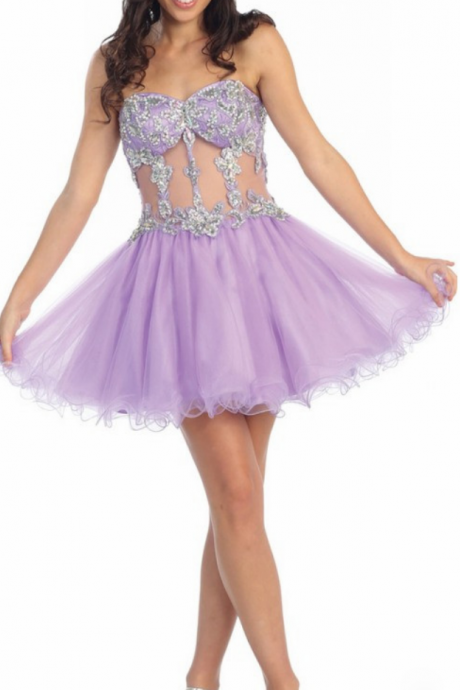 Short Homecoming Dress,Sexy Homecoming Dress,Tulle Short Party Dress,Beaded Homecoming Dress,Short Graduation Dress for Teens,Sexy Mini Cocktail Dress