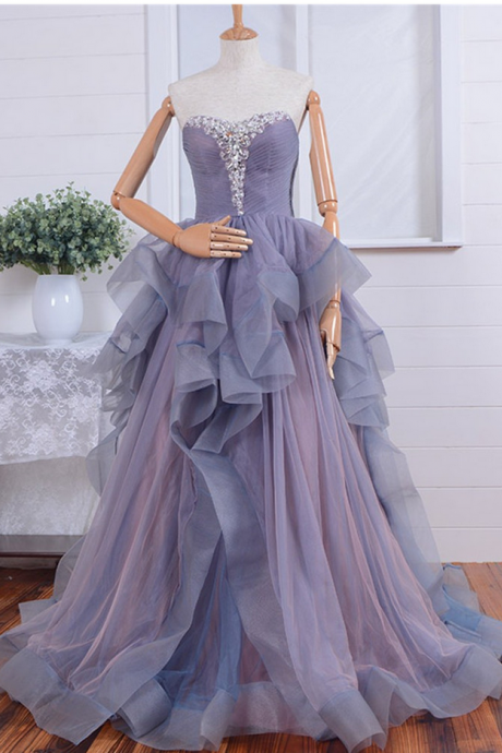 V Neck Prom Dresses,Long Prom Gowns