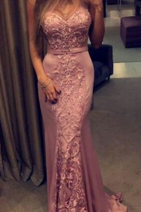 Mermaid Prom Dresses,Lace Prom Dresses,Satin Prom Dresses,New Fashions Sexy Prom Dresses