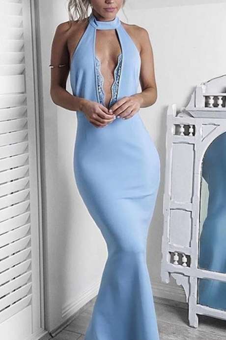 Light Blue Prom Dress,Mermaid Prom Dress,Long Prom Dress,Prom Dresses,Elegant Prom Dresses,Prom Dresses For Teens,Charming Evening Dresses,Simple Prom Dress,Cheap Prom Dresses