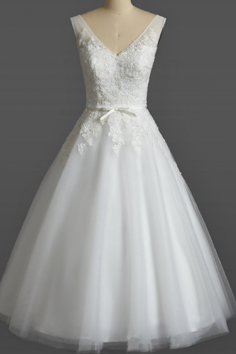 Short Wedding Dress,Lace Wedding Dresses