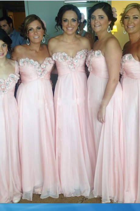 Pink Chiffon Bridesmaid Dress Bridesmaid Dresses