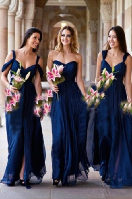 Bridesmaid Dress,Navy Blue Bridesmaid Dresses Long,Bridesmaid Gowns Cheap, Maid of Honor Dress,Wedding Party Dresses, Graduation Dress, Cocktail Dress, Party Dress,Wedding Guest Prom Gowns, Formal Occasion Dresses,Formal Dress