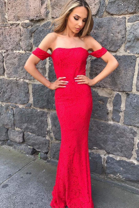 Red Prom Dress,Mermaid Prom Dress,Fashion Prom Dress,Sexy Party Dress,Custom Made Evening Dress
