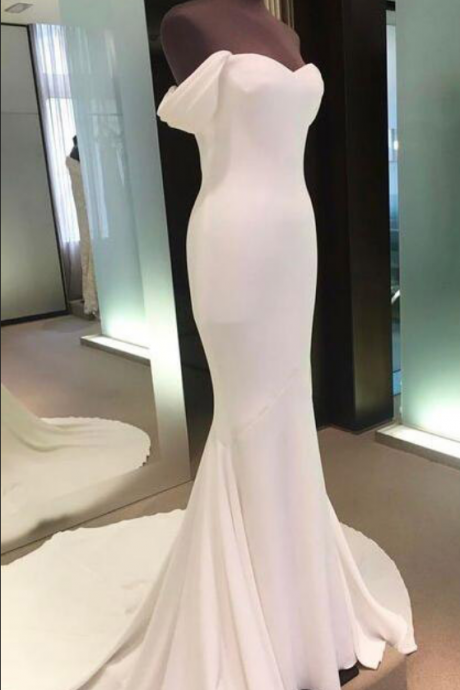 ff shoulder prom dresses,backless prom gown,white prom dresses,cheap prom dress,mermaid prom dresses,long prom dress,spandex evening gowns