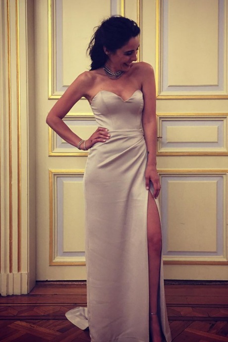 Sleeveless Sweetheart Long Prom Dress with Slit