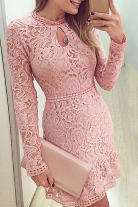 Blush Pink Homecoming Dress,Short Prom Dresses,Homecoming Gowns,Homecoming Dresses,Formal Dresses
