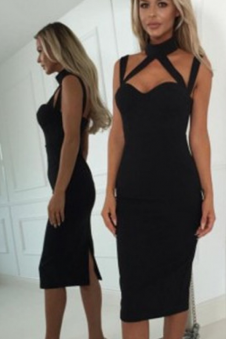 Sheath Round Neck Sleeveless Homecoming Dresses, Black Elastic Satin Homecoming Dresses, Women Party Dresses,Sexy Short Prom Dresses, Simple Homecoming Dresses, Summer Dresses for Girls