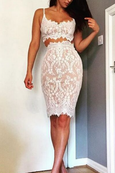 Charming Prom Dress,Lace Prom Dress,Two Pieces Prom Dress,Fashion Homecoming Dress,Sexy Party Dress, New Style Evening Dress