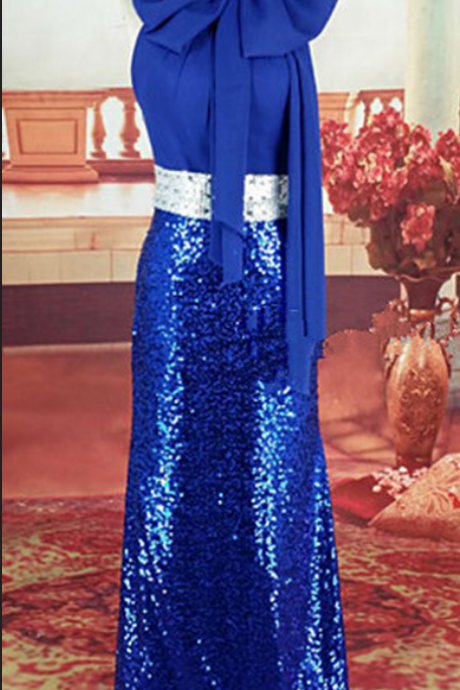 Prom Dresses,Formal Prom Dress,Royal Blue Prom Dresses,Sequins Prom Dress,