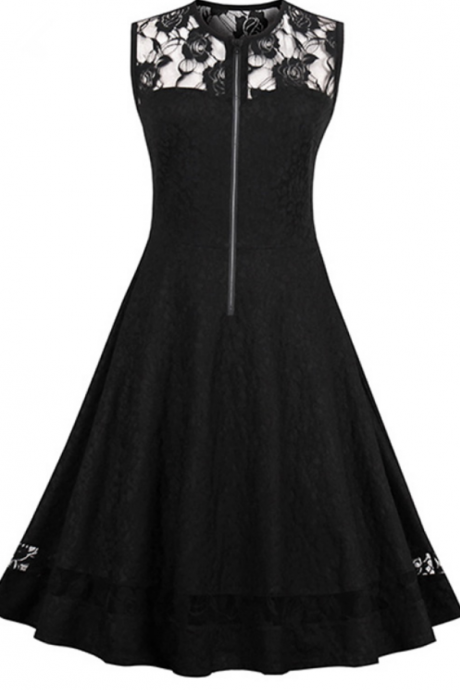 A cocktail of cocktail dress! O black dress sleeveless neck line long knee shot without expensive formal brief paragraph cocktail party
