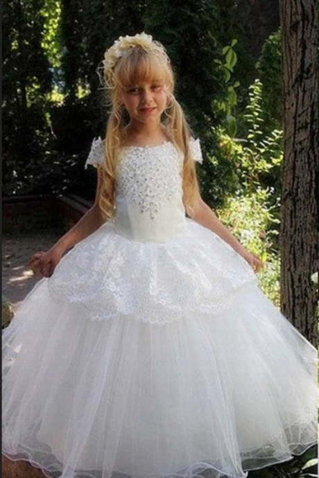 New Flower Girl Dress Princess Kid Party Pageant Wedding Bridesmaid Ball Gown Flower Girl Dresses