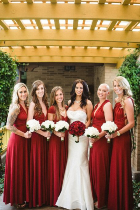 Dark Red Bridesmaid Dress Different Style Chiffon Bridesmaid Dresses Long Bridesmaid Dresses
