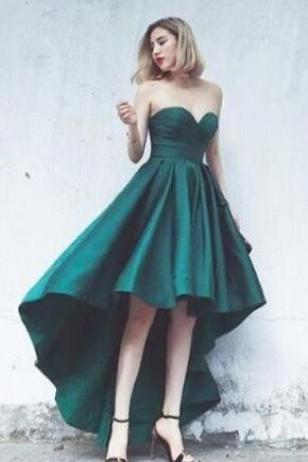 high-low, short prom dress, homecoming dress, formal dress , sweetheart prom dress