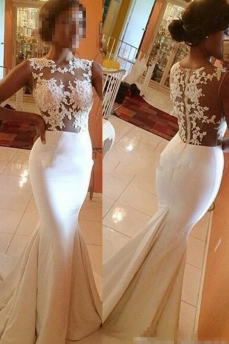 Newest Appliques Mermaid Prom Dresses,Long Evening Dresses,Prom Dresses