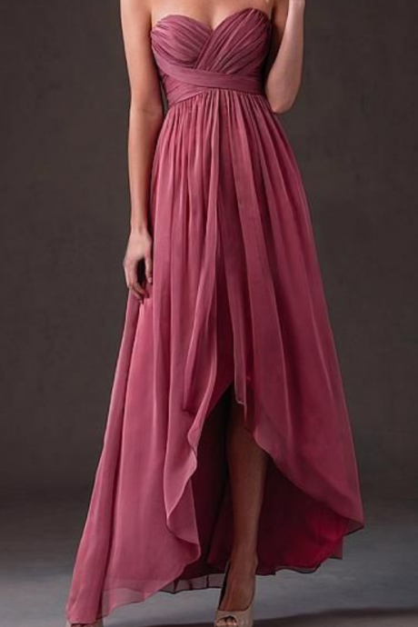 Chiffon Sweetheart Bridesmaid Dresses,evening Dresses
