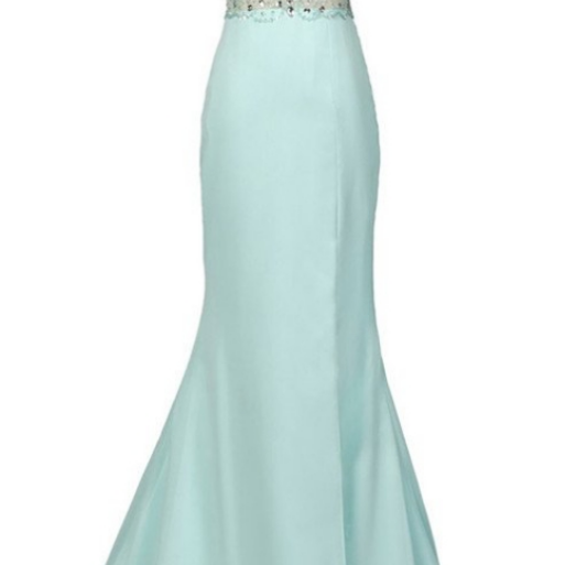 Mint Halter Open Back Long Mermaid Charming Elegant Chiffon Prom Dresses