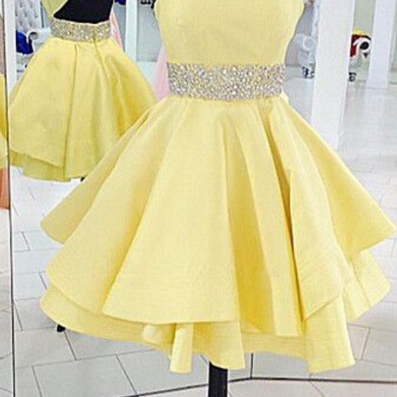 Open Back Homecoming Dress,Sexy Homecoming Dresses,Yellow Homecoming Gowns,Cheap Party Dresses,Sexy Open Back Graduation Dresses,Yellow Formal Dresses