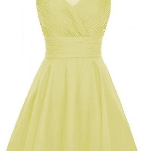 Charming Homecoming Dress,Yellow Homecoming Dress,Chiffon Homecoming Dresses,Short Homecoming Dress,Prom Dress