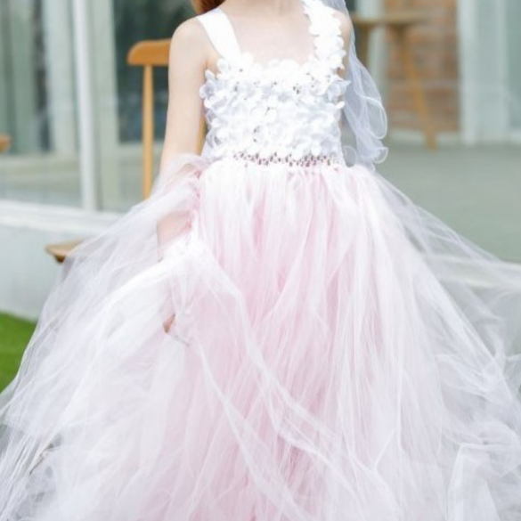 Flower girl dress.little girl dress,Tulle flower girl dress, ball gown flower girl dress, girls communion dress,girls wedding party dress,Flower GIrl Dresses