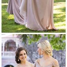 Chiffon Off Shoulder A Line Prom Dress Wedding Party Gown Bridesmaid Dresses